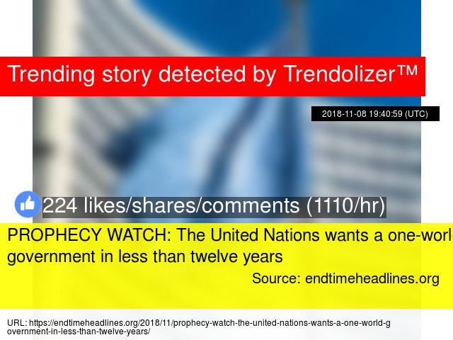 PROPHECY WATCH: The United Nations wants a one-world