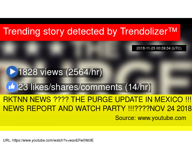 RKTNN NEWS ???? THE PURGE UPDATE IN MEXICO !!! SPANISH NEWS