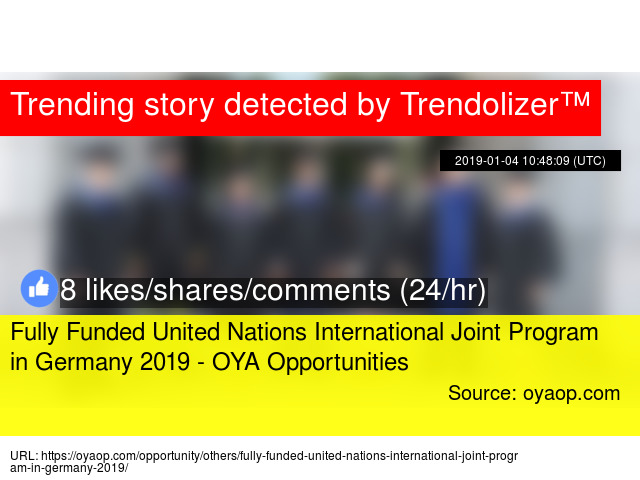 Fully Funded United Nations International Joint Program in
