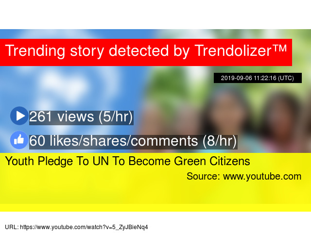 Youth Pledge To UN To Become Green Citizens